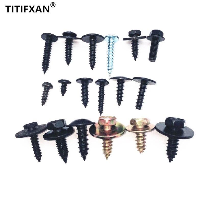 Auto metal self-tapping screws fasteners for hyundai tiburon mazda grand cherokee toyota tundra fj cruiser ford explorer fender