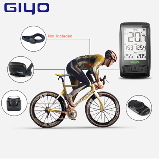 GIYO M40 Computer Wireless Bluetooth4 0 Bicycle Computer Mount Holder Bicycle Speedmeter Speed Cadence Sensor With