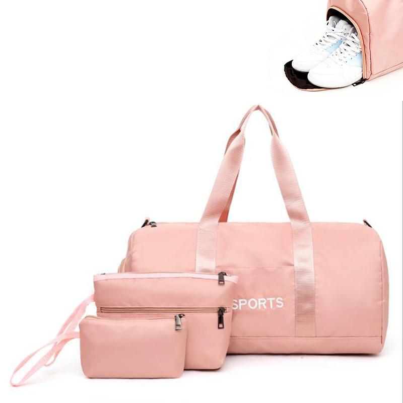 Duffel Bags For Sports Women Gym Bags Set Outdoor Travel Storage Bags Waterproof Fitness Luggage Bag Girl Yoga Crossbody Bag