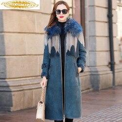 Luxury Double Faced Fur Coat 2019 Winter Jacket Women Natural Wool Fur Coat Female Mink Fur Genuine Leather Jacket MY