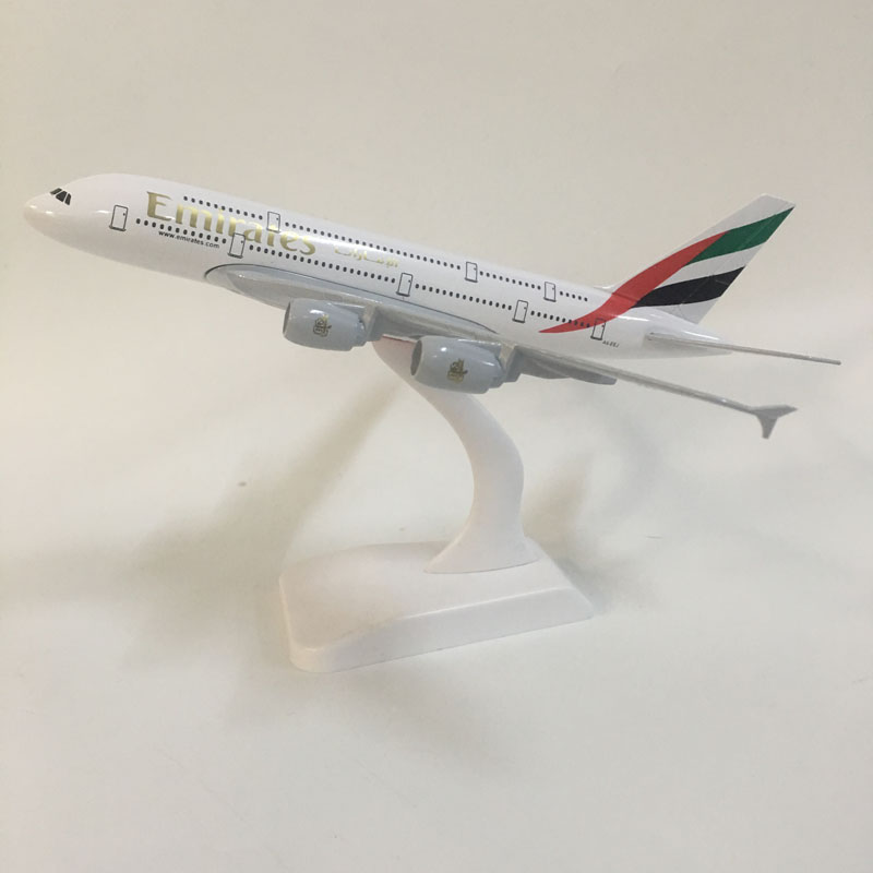 JASON TUTU 20cm Emirates Airbus A380 Plane Model Airplane Model Aircraft Model 1:300 Diecast Metal planes toys Gift Collect image