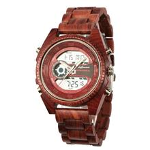 shifenmei Antique Natural Digital Men Watches LED display engraved Wooden Luminous Hand boys watches brand male female