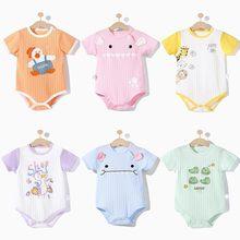 Bebê gêmeos roupas da menina do bebê macacão de algodão recém-nascido macacão infantil menino macio manga curta macacão da criança roupas de verão 0-2y