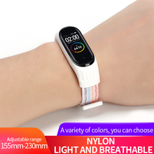 Nylon loop watchband For Mi band 3 4 strap silicone shell for xiaomi mi band 3 Replacemet wristband for Mi band 4 Accessories
