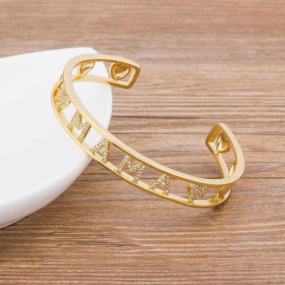 Bracelets pour femmes, couleur cuivre zircon or, bracelet de qualité 2020, tendance, cadeau de luxe pour mamans, collection haut tendance