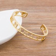 Bracelets en cuivre zircone or pour femmes, manchette ouverte, de luxe, tendance, cadeau pour maman, 2020, nouvelle collection haut tendance