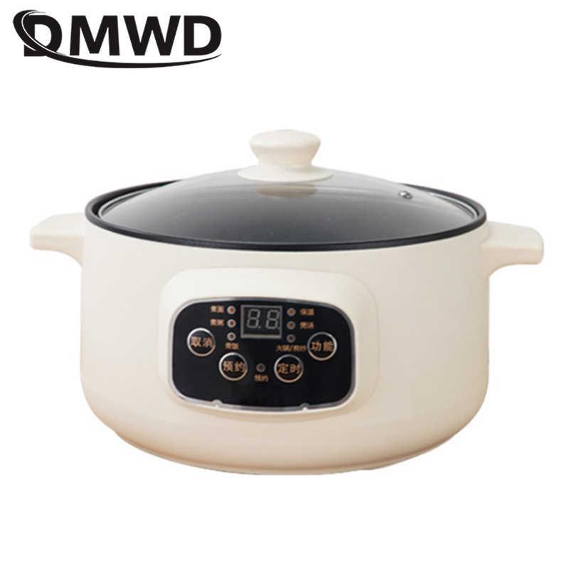 DMWD 110V 220V non-stick ryżowar wielofunkcyjny gorący kociołek z izolacją parownika szybkie ogrzewanie elektryczny multiccoker 2 layersM