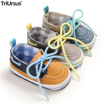 Baby Boys Girls Canvas Shoes Sporty First Walkers 2020 Spring Autumn Infant Toddler Prewalker Lace-Up Soft Sole
