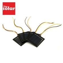 5 adet X 2V 100mA GÜNEŞ PANELI 15cm tel uzatın standart epoksi polikristal DIY pil güç şarj modülü mini güneş pili