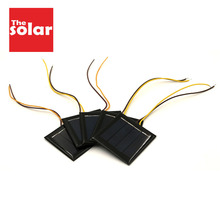 5pcs x 2 v 100ma 태양 전지 패널 15cm 연장 와이어 표준 에폭시 다결정 diy 배터리 전원 충전 모듈 미니 태양 전지