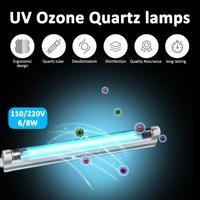 6 واط 8 واط الأشعة فوق البنفسجية مبيد للجراثيم ضوء T5 أنبوب مع تركيبات UVC تطهير معقم قتل الغبار سوس UV الكوارتز مصباح