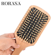 1pcs Care Hairdressing Massager Comb Anti Static Natural Wooden Bamboo Hair Vent Brush Brushes Care And Beauty Spa Salon Comb judy boutique natural hairdressing comb double engraved green