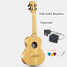 Acoustic-Guitar Ukulele Musical-Instrument Bamboo Electric Mini 23inch 4-Strings Solid