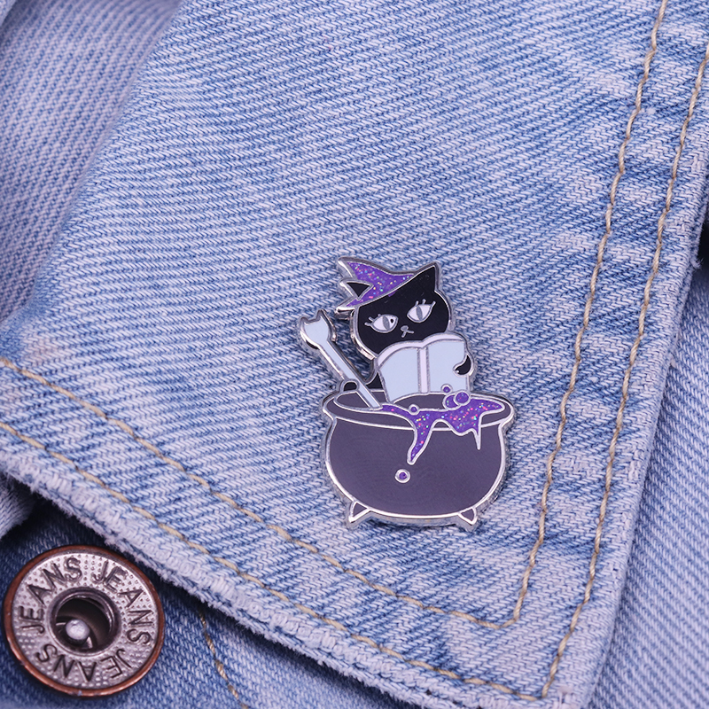 Cat Cauldron Enamel Pin