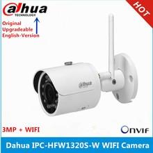 Orijinal Dahua IPC HFW1320S W 3MP IR30M IP67 dahili SD kart yuvası WIFI kamera desteği p2p değiştirin IPC HFW2325S W IP kamera