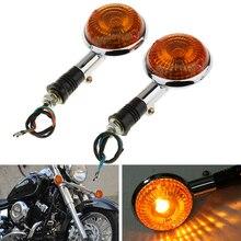 Luz de señal de giro para motocicleta, luz intermitente ámbar indicadora, lámpara lateral para Yamaha V MAX1200/v star/Virago XVS400/650/1100, Etc.