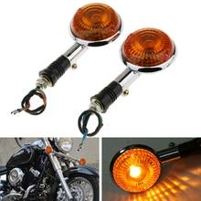 Moto Spia Indicatore di Direzione Ambra Lampeggiante Luci di Posizione Laterali Per Yamaha V MAX1200/V star/Virago XVS400/650/1100 ecc