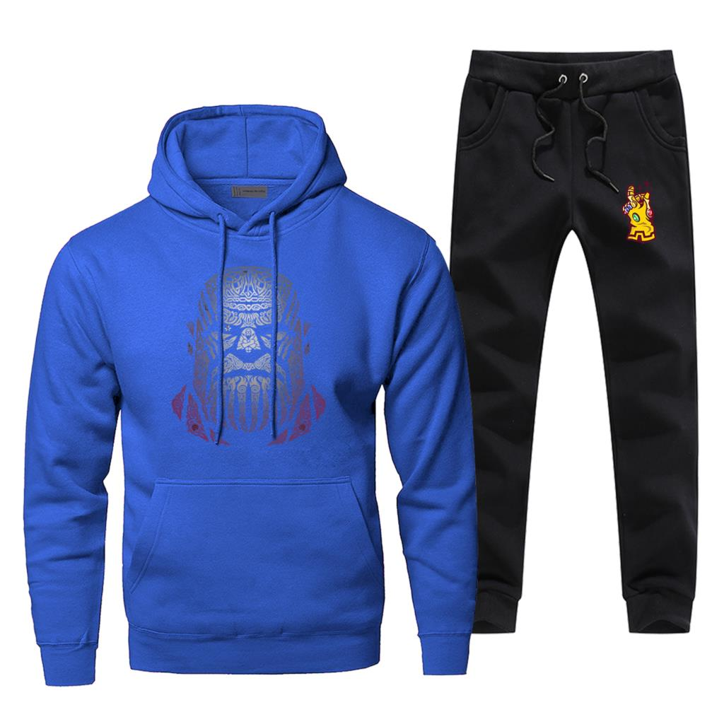 Thanos Creative Desgin Print Male Set End Game Comfortable Fleece Complete Tracksuit Casual Men Titan Avengers Pants Sweatshirt
