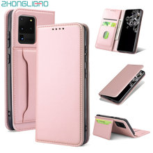 Leather Flip Case for Samsung Galaxy S20 Note 20 10 9 Ultra S10 S10e Plus A71 A51 A81 A91 A41 A31 A21 A11 A70 A50 A30 A20e Cover(China)