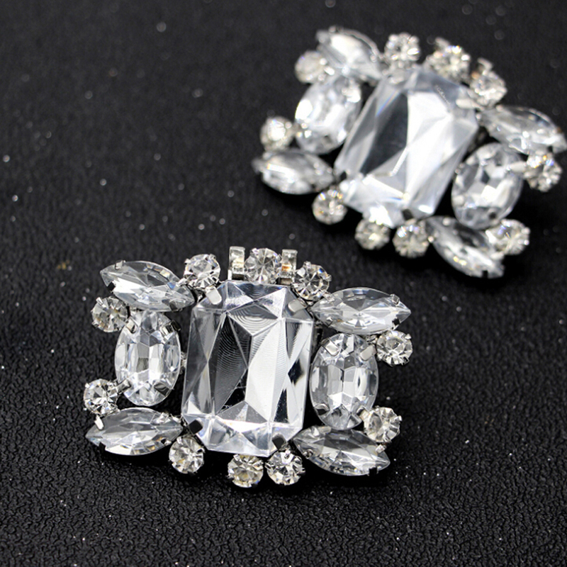 Rhinestone Shiny Decorative Clips Charm Buckle Shoes Decoration 1pcs Shoe Clip Wedding Shoes High Heel Women Bride Decoration
