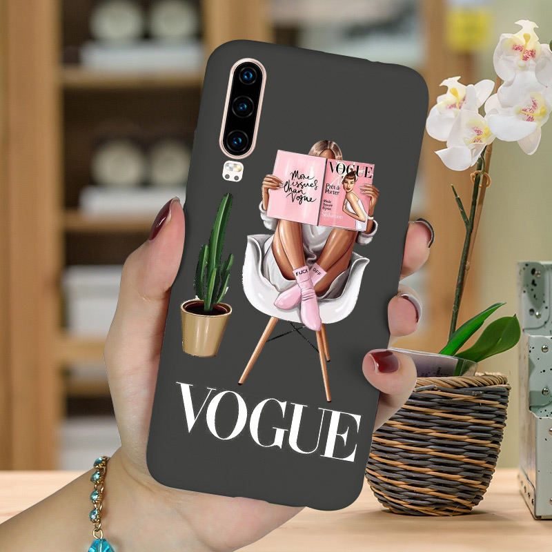 Boss Girl Silicone Case FOR Huawei P30 PRO P20 Lite P10 P9 P40 E P Smart Z Plus 2018 2019 Mate 20 10 Nova 5T Y5 Y6 Phone Cover