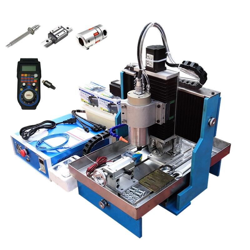 DIY Cnc 3040 Linear Guideway Engraving Machine 2.2kw Usb 3axis 4axis Metal Router Steel Table Mach3 Software Nema23 Motors