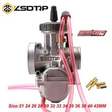 ZSDTRP Universal 21 24 26 28 30 32 33 34 35 36 38 40 42mm 2T 4T PWK Motorcycle Carburetor For Keihin Mikuni Koso Racing Motors