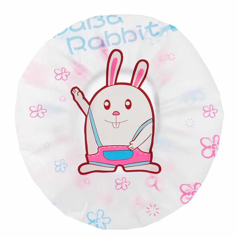 Boné de banho de desenho animado, chapéu para banheiras, banheiro, mulheres, meninas, elástico, laço, spa, protetor de cabelo acessórios