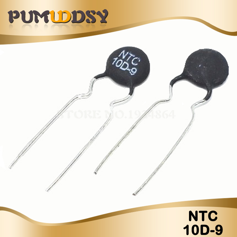 10pcs Thermistor Resistor NTC 10D-9 Thermal Resistor