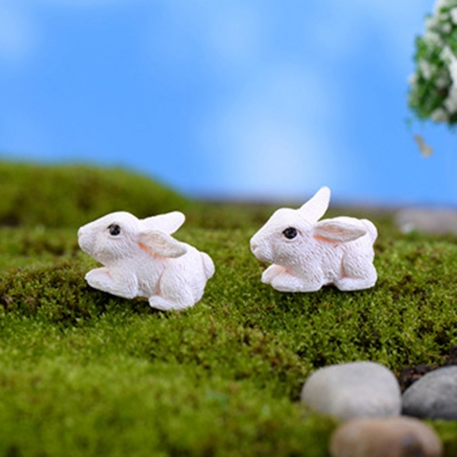 Mini Rabbit Garden Ornament Miniature Figurine 3