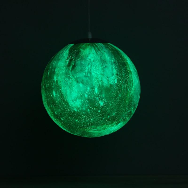 16 Colors 3D Printing Chandelier Ball Moon LED Star Modern LED Lamp Bedroom Dining Room led lustre Hanging chandelier lighting