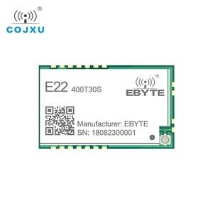 Image 2 - SX1268 LoRa TCXO 433MHz 30dBm E22 400T30S SMD UART Draadloze Transceiver IPEX Stempel Gat 1W Lange Afstand Zender en ontvanger