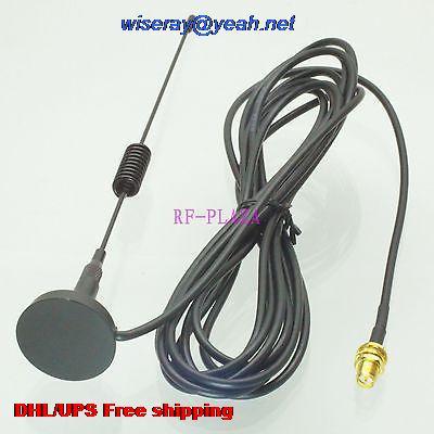 DHL/EMS 100 Pcs 433MHZ Antenna 433MHZ 3dBi GPRS GSM RPSMA Female Bulkhead Magnetic Base For Ham Radio-A1