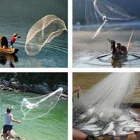 Outdoor Leisure Hand Throwing Fishing Net American Hand Throwing Net Fish Shrimp Net Fishing Net