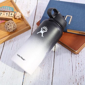 Hydro Flask 18oz/32oz/40oz Vacuum Flask Insulated Thermos Stainless Steel Straw Water Bottle Wide Mouth Sport Travel Bottles 6