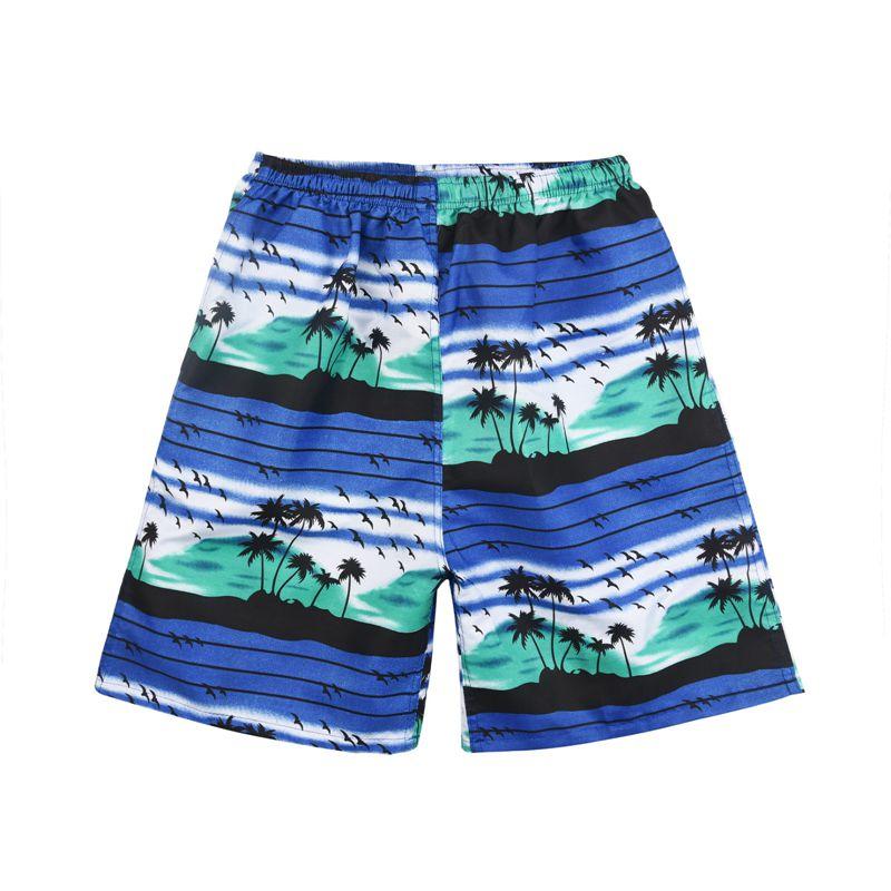 New Summer Casual Shorts Men Printed Beach Shorts Quick Dry Board Shorts Pants 2