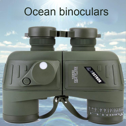 Exército à Prova Alta Potência Profissional Militar Bússola Telescópio Spyglass Lll Night Vision Binóculos Telêmetro d' Água 10×50