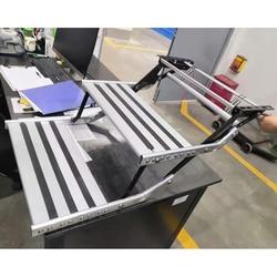 TYTXRV Aluminum Alloy Antiskid RV Caravan Motorhome Double step manual version with LED Light