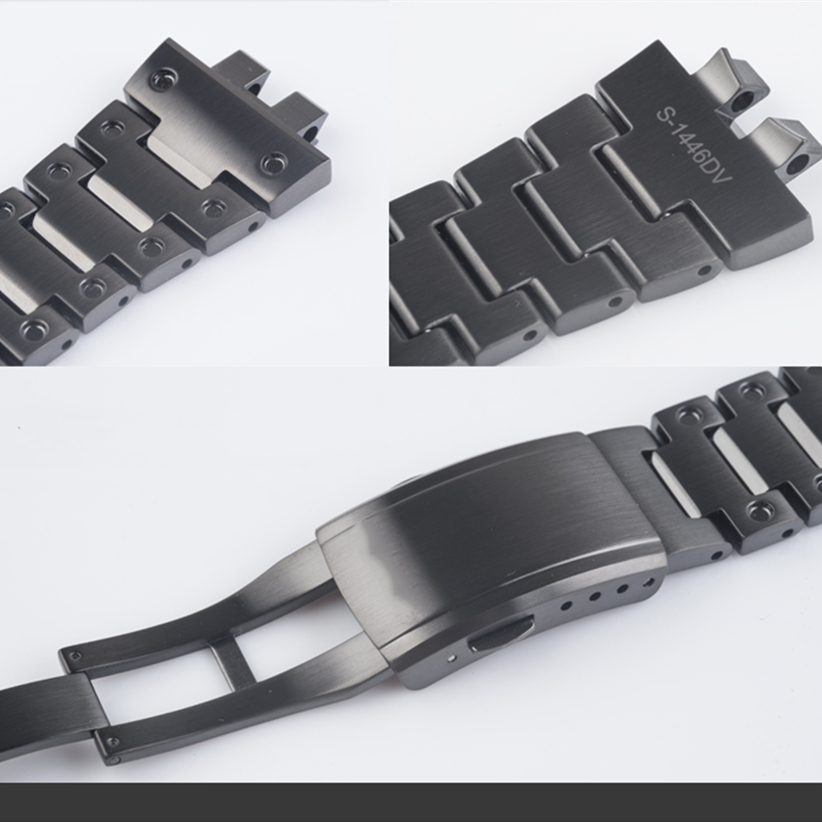 Image 2 - GMW B5000 黒チタン合金時計バンドとベゼル金属ストラップ鋼ブレスレットツールを使用した時計バンド   -