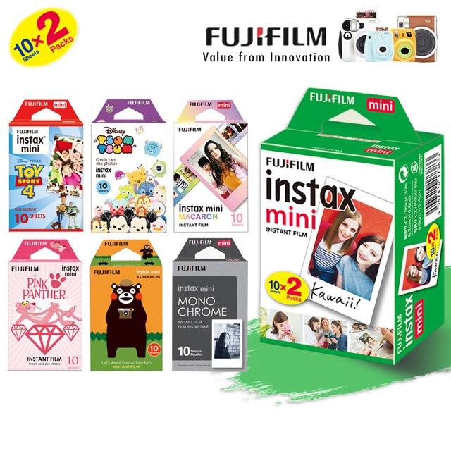 كاميرا Fujifilm Instax Mini 8 Mini 9 Film ، حزمة مزدوجة من أوراق الصور الفورية من فوجي لطابعة Mini 9 8 7s 70 90 25 SP1 SP2 Liplay