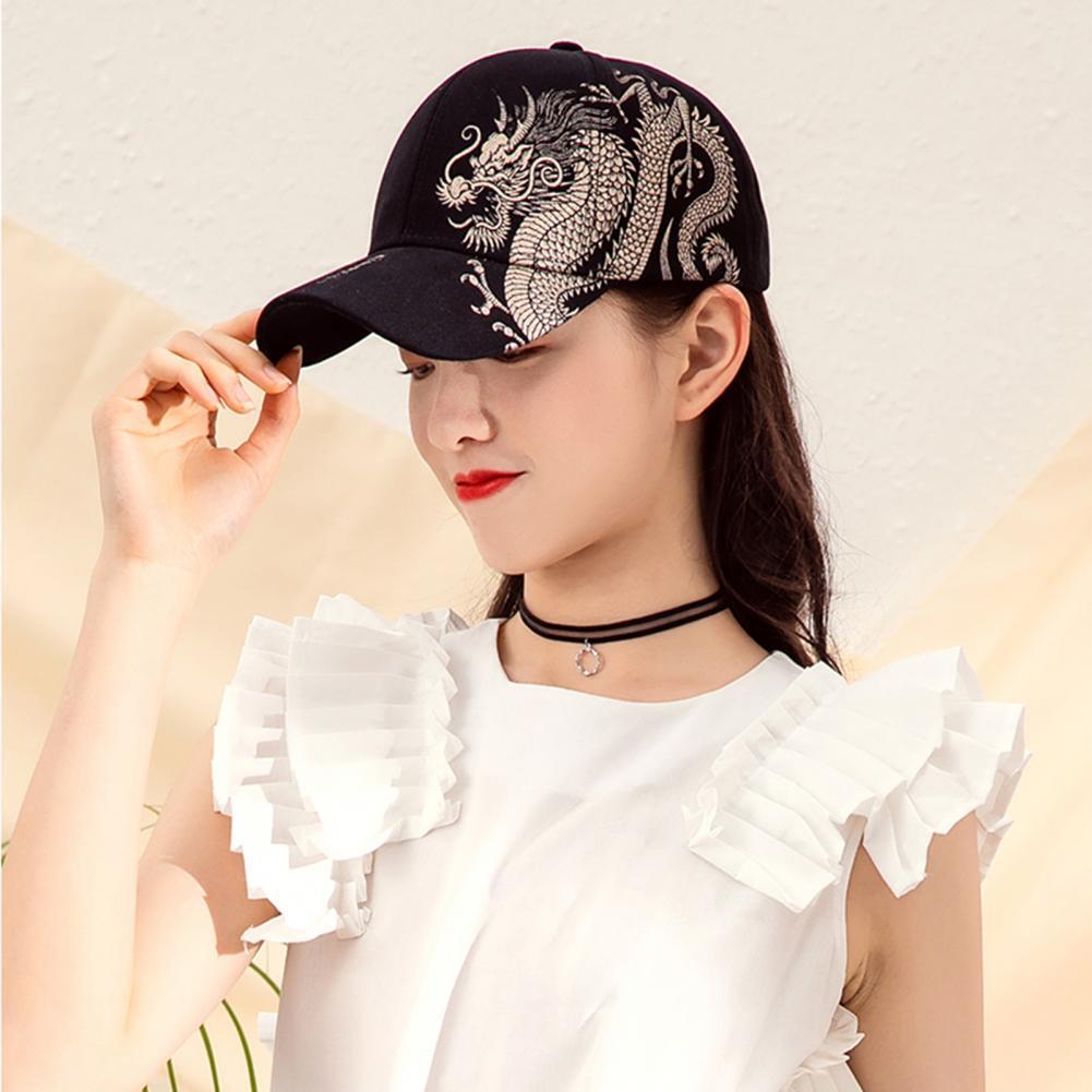 2021 Ponytail Baseball Cap Baseball Hat Font Elements Adjustable Couple Models Chinese Style Baseball Cap for School