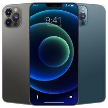 Novo 6.7 Polegada i12 pro max smartphone gps snapdragon 865 câmera 48mp 12gb 512gb 5000mah android10.0 deca núcleo 4g 5g lte celular