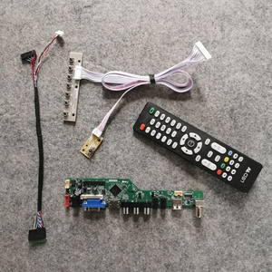 Tela do jogo de diy 1366*768 ajuste LTN156AT05-001/h01/h02/h07/s01/u09 monitor de 40 pinos lvds lcd placa controladora 60hz led vga usb av