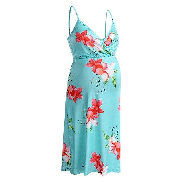 Long Maternity Floral Dresses for Women 6