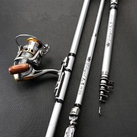 Nwe Portable Telescopic Fishing Rod Spinning Glass Fiber Fish Hand Fishing Tackle Sea Rod Ocean Rod Fishing Pole|Fishing Rods| |  -