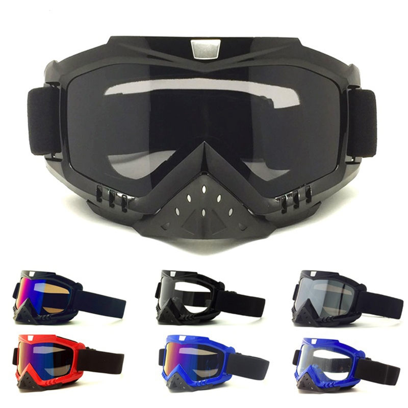 Cycling Goggles Impact Resistant Anti-fog Windproof Breathable Outdoor Protective Motorcycle Riding Skiing Glasses Eyewear