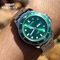 WAKNOER брендовые Роскошные мужские часы с отображением недели водонепроницаемые светящиеся мужские часы Бизнес Кварцевые наручные часы Мужс...