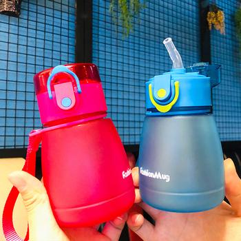 Plastikowa butelka wody 320ML moja butelka butelka Bpa nieprzeciekające czajnik z liną przenośna szkolna butelka na wodę dla dzieci Drinkware tanie i dobre opinie Z tworzywa sztucznego MATERNITY W wieku 0-6m 7-12m 13-24m 25-36m 4-6y 7-12y 12 + y CN (pochodzenie) Naczynia do picia CE UE