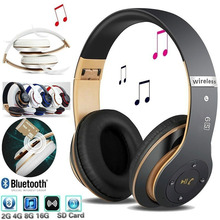 цена на Wireless Headphones Bluetooth Headset foldable Stereo Headphone Gaming Earphones With Mic Support TF card For mobile phone PC