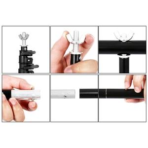 Image 3 - Фон для фотосъемки в форме буквы т стойка регулируемая система поддержки фотостудия для нетканого муслинового фона